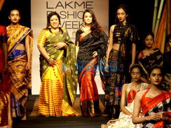 Preity Zinta walks the ramp at Lakme Fashion Week 2017