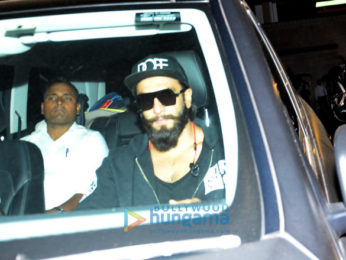 Ranveer Singh snapped post a gym session in Bandra