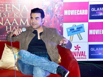 Arbaaz Khan & Manjari Fadnis promote 'Jeena Isi Ka Naam Hai' at Carnival Cinemas Rave Moti Mall in Kanpur