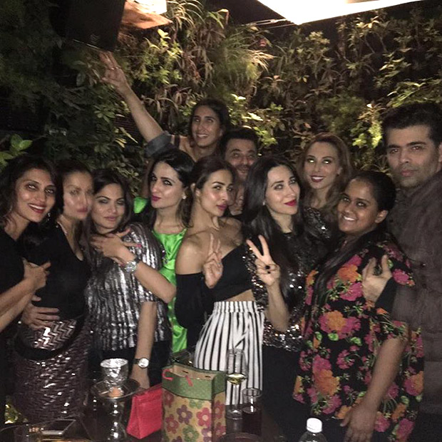 Karan Johar, Karisma Kapoor, Malaika Arora party hard at Seema Khan's birthday-4