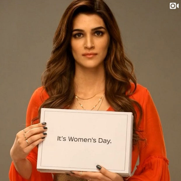 Kriti Sanon is done talking about International Women's Day