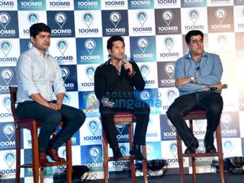 Launch of Sachin Tendulkar's app 100 MB Master Blaster