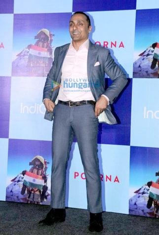 Rahul Bose, Zoya Akhtar & Barkha Dutt at their film Poorna's promotions