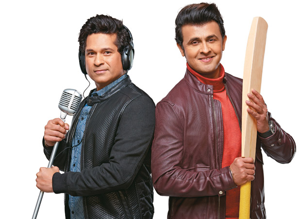 Sachin Tendulkar sings alongwith Sonu Nigam for a music video to promote his app '100 MB'