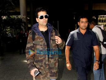 Varun Dhawan, Alia Bhatt, Kangna Ranaut and Karan Johar snapped at the airport
