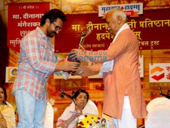 Aamir Khan honoured at 75th Dinanath Mangeshkar Awards