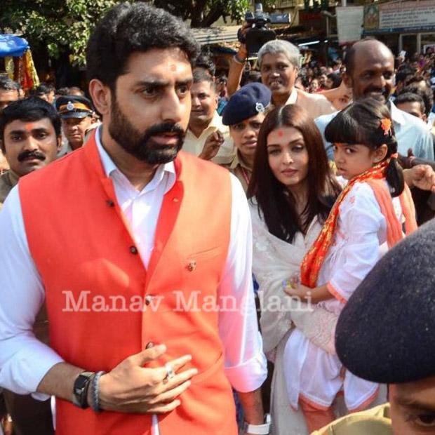 Abhishek and Aishwarya Rai Bachchan visit Siddhivinayak on their 10th wedding anniversary