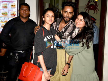 Aditi Rao Hydari snapped post dinner with friends