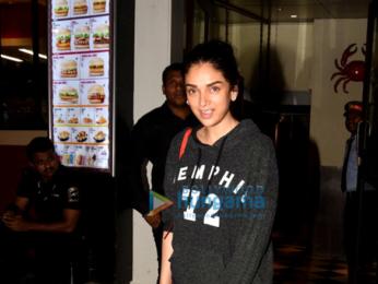 Aditi Rao Hydari snapped post dinner with friends
