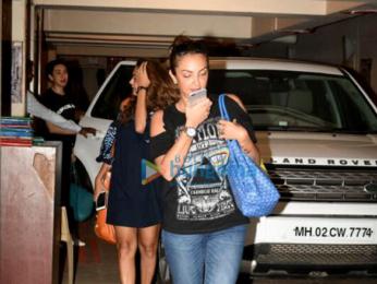 Amrita Arora, Karisma Kapoor & Seema Sachdev Khan snapped post dinner at Kareena Kapoor Khan's house