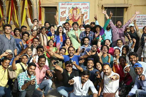 Check out It's a wrap for Ayushmann Khurrana and Bhumi Pednekar starrer Shubh Mangal Saavdhan