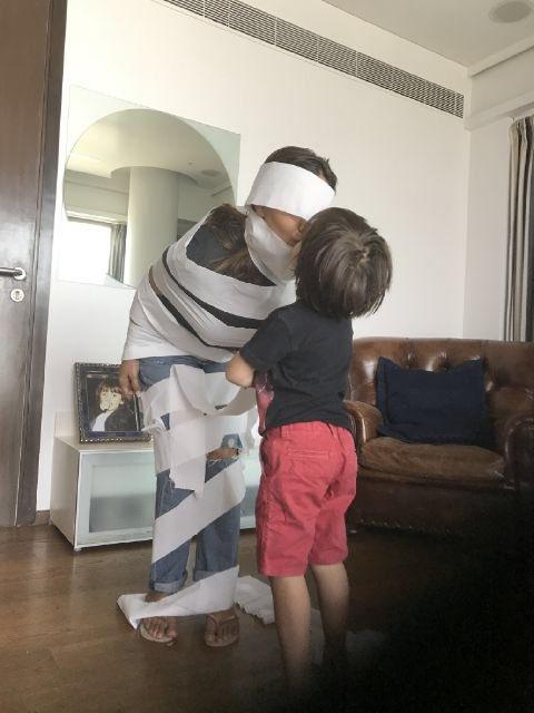 Gauri Khan dresses up as 'The Mummy'
