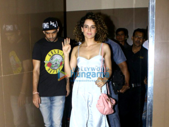Kangna Ranaut and others snapped post 'Baahubali 2 – The Conclusion' show at PVR Juhu