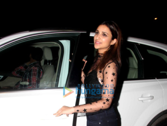 Parineeti Chopra snapped post her dinner at a friend's house in Bandra