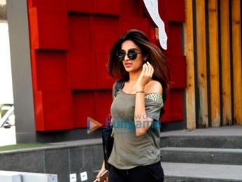 Nidhhi Agerwal snapped shopping at Puma
