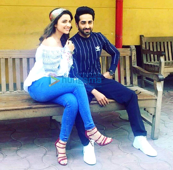 Parineeti Chopra and Ayushmann Khuranna snapped promoting 'Meri Pyaari Bindu'