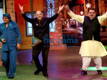 Prem Chopra, Raza Murad and Ranjeet snapped on sets of The Kapil Sharma Show