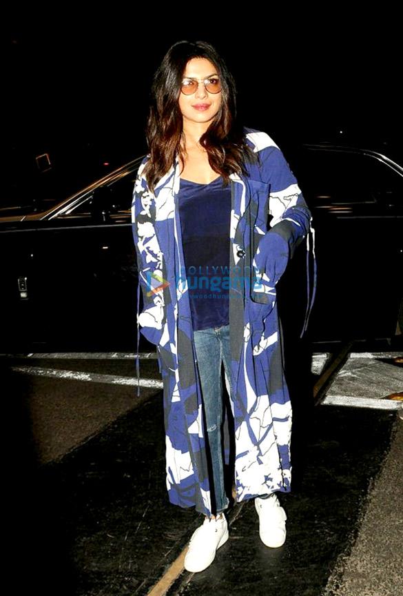 Priyanka Chopra snapped leaving for USA