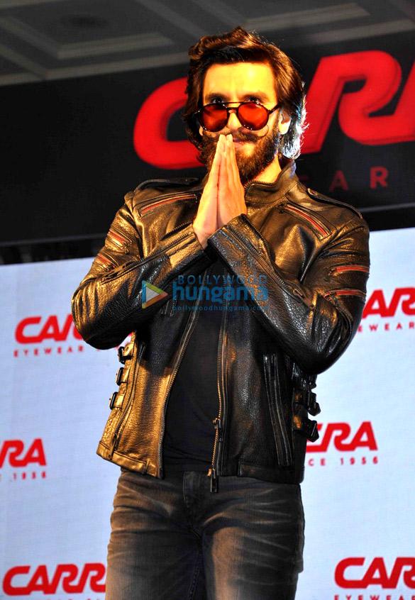 8cd42470a7 Ranveer Singh unveils Carrera eye wear in Delhi