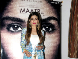 Raveena Tandon snapped at 'Maatr' movie promotions