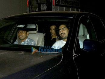 Sidharth Malhotra, Alia Bhatt, Karan Johar and Raveena Tandon snapped at the 'Baahubali 2 – The Conclusion' screening