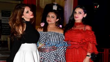 Sussanne Khan, Seema Khan and Elli Avram at Bandra 190 fashion preview