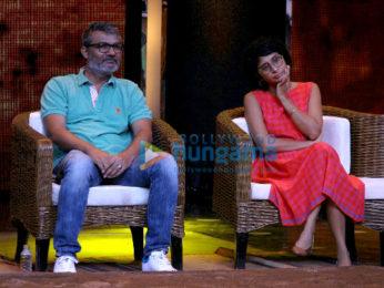 Aamir Khan and the 'Dangal' girls Fatima Sana Sheikh and Sanya Malhotra snapped on the sets of Sa Re Ga Ma
