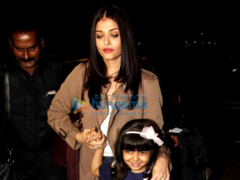 Aishwarya Rai Bachchan and Aaradhya Bachchan depart for Cannes 2017