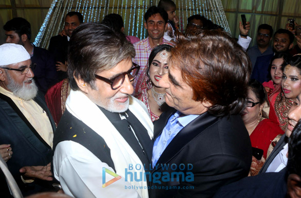 Amitabh Bachchan snapped at his friend's son's wedding in Mumbai