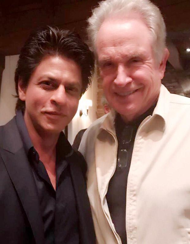 Check out Shah Rukh Khan's fan moment meeting Hollywood legend Warren Beatty