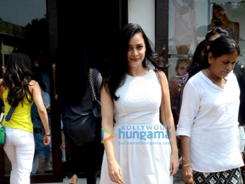 Dia Mirza snapped with her husband Sahil Sangha post lunch in Bandra