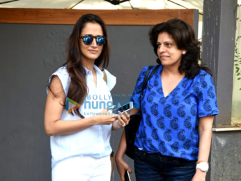 Gayatri Oberoi snapped with a friend post meeting at Sequel