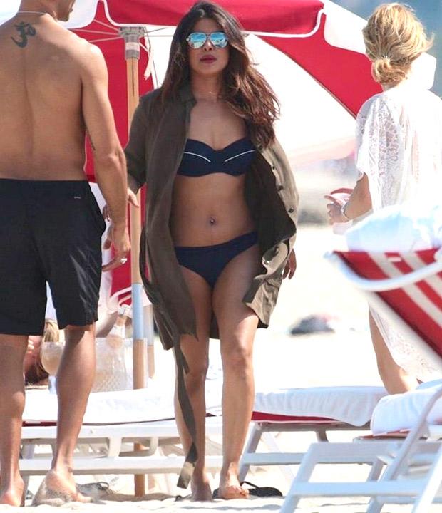HOT! Priyanka Chopra flaunts her curves in a SEXY bikini with Victoria's Secret model Adriana Lima at Miami Beach-2