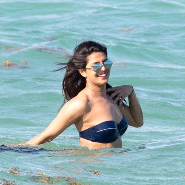 HOT! Priyanka Chopra flaunts her curves in a SEXY bikini with Victoria's Secret model Adriana Lima at Miami Beach-4