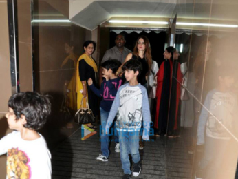 Hrithik Roshan and Sussane Khan with kids snapped at PVR Juhu