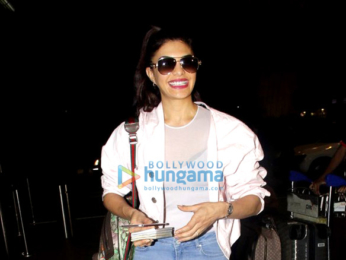 Jacqueline Fernandez snapped leaving for London to shoot for 'Judwaa 2'