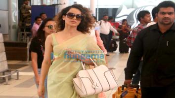 Kangna Ranaut snapped while returning from Banaras