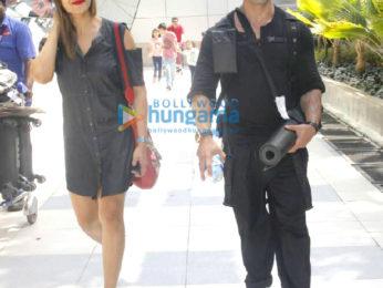 Karan Singh Grover, Bipasha Basu return from Goa post celebrating one year of marriage