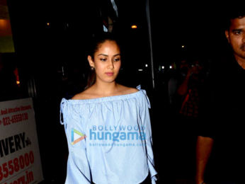Mira Rajput snapped post her dinner at Bastian