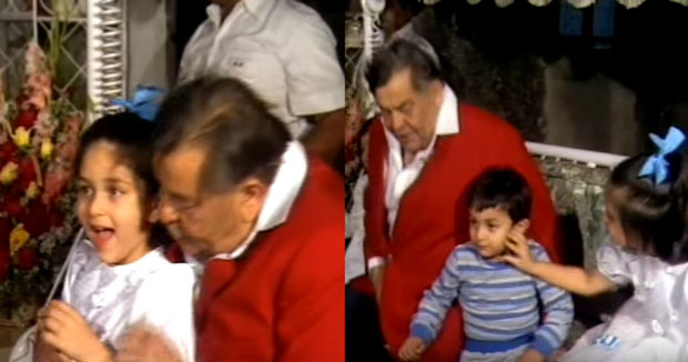 OMG! This old video featuring toddlers Kareena Kapoor Khan and Ranbir Kapoor with grandfather Raj Kapoor is going viral
