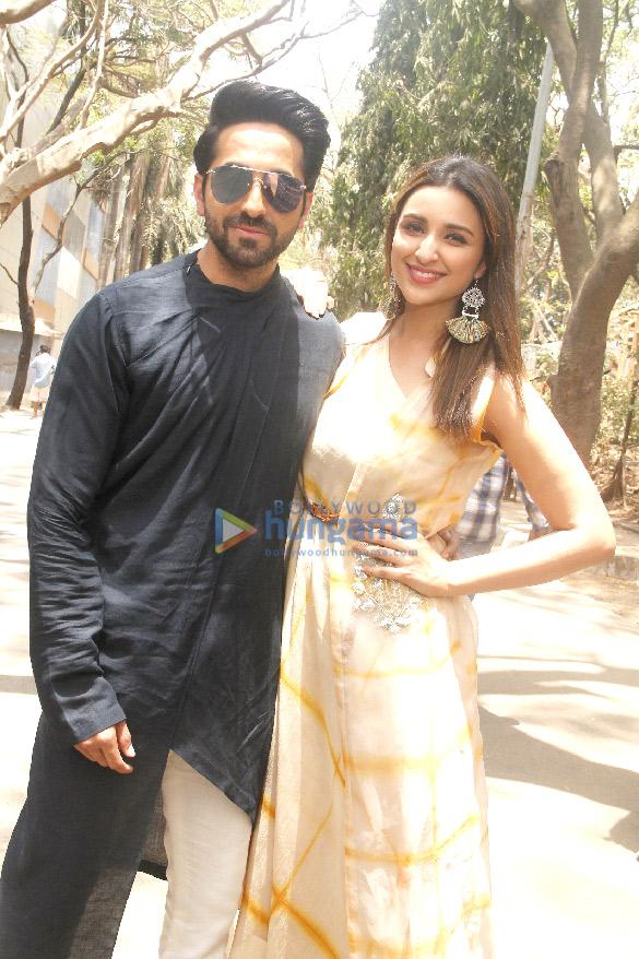 Parineeti Chopra and Ayushmann Khurrana promote their film 'Meri Pyaari Bindu' on the sets of TV show, Shakti - Astitva Ke Ehsaas Ki