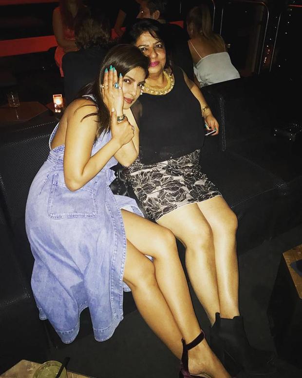 Priyanka Chopra hits back at trolls by showing off her legs with mom