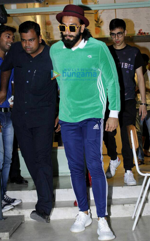 Ranveer Singh snapped at The Kitchen Garden