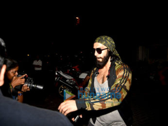 Ranveer Singh snapped post his gym sessions in Bandra