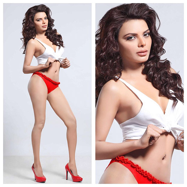 SEXY Sherlyn Chopra looks HOT in red and white