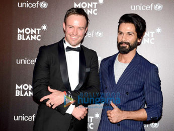 Shahid Kapoor and others at 'Mont Blanc' bash
