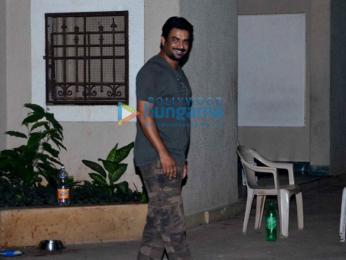 Shekhar Suman and R Madhavan snapped post dinner at Sanjay Dutt's house