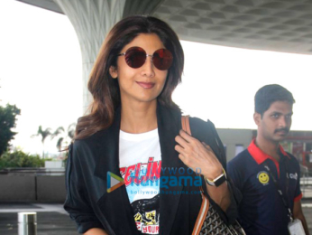 Shilpa Shetty and Neha Dhupia snapped at the Mumbai airport