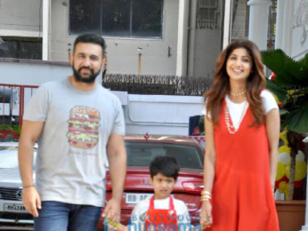 Shilpa Shetty and her family snapped on the occassion of her