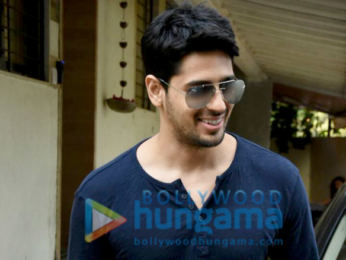 Sidharth Malhotra snapped post meeting at Matrix office in Bandra